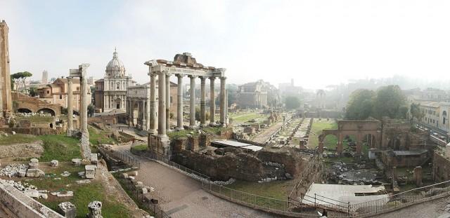 Forum romanum i Rom.